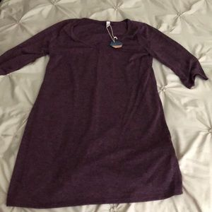 Purple 3/4 Sleeve Fitted Top